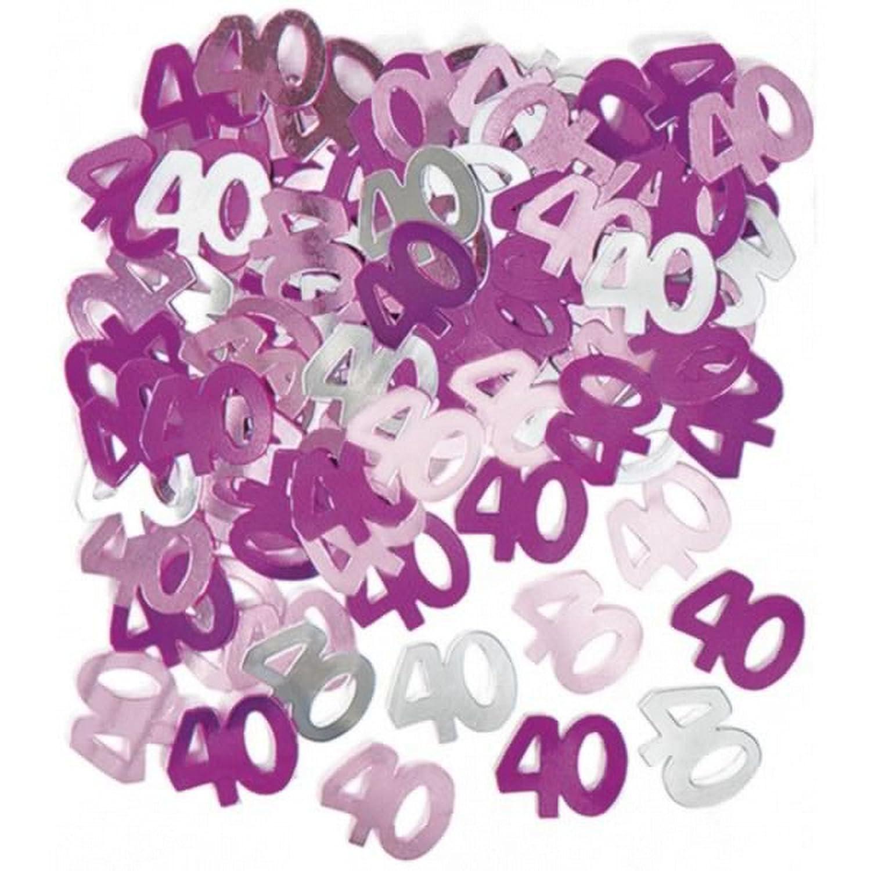 Unique Party - Coriandoli rosa per la festa di compleanno - 40 anni UTSG5392_1