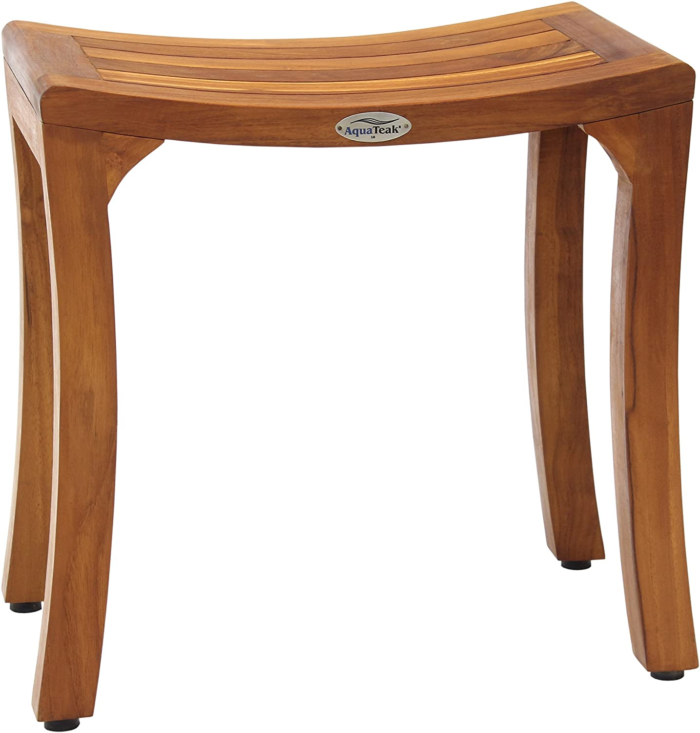 """Patented Asia Curve 18"""" Teak Shower Bench"""