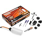 HPI Nitro Starter Pack Kit with Glow Plug Igniter, Charger, Fuel Bottle and Tools for all Nitro Cars