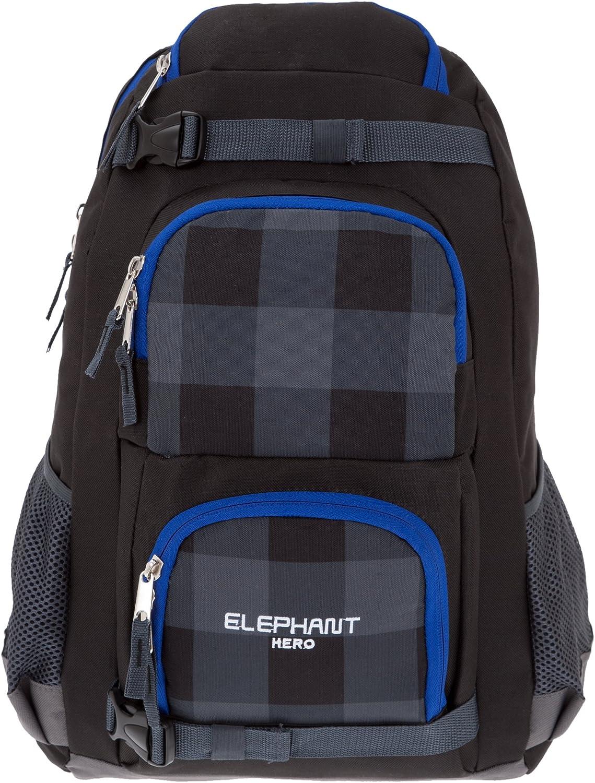 4 Teile SET ELEPHANT GEAR Schulrucksack Sporttasche Mäppchen 12366 HERO SCHWARZ