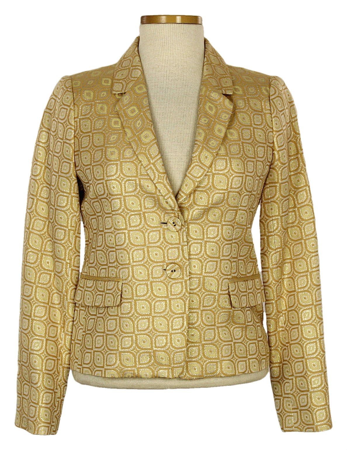 J Crew Gold Wallpaper Jacquard Jacket Size 4 Style 14993 New by J.Crew