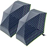 "2-Pack Nautica 3-Section Auto Open Umbrella - Sturdy Rainy Day Protection with Ergonomic Handle, 42"" of Coverage"