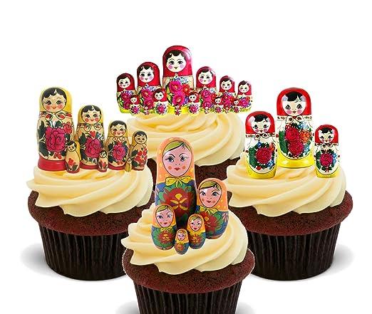Made4You Matryoshka - Decoración comestible para tartas, diseño de ...