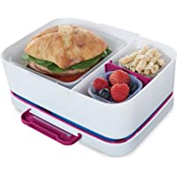 Rubbermaid LunchBlox Leak-Proof Entree Lunch Container Kit with Case, Small, Beet Red