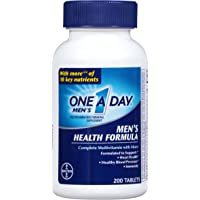One A Day Men's Health Formula Multivitamin 200-Tablet Bottle