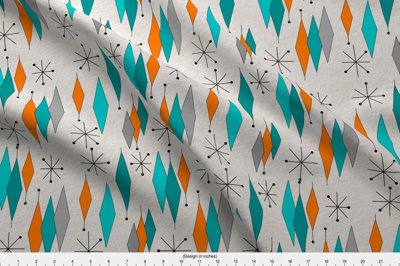Amazoncom Spoonflower Mid Century Modern Fabric Mid Century Modern