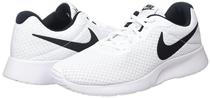 Amazon.com | Nike Womens Nike Tanjun White/Black Running Shoes Size 10 | Fashion Sneakers