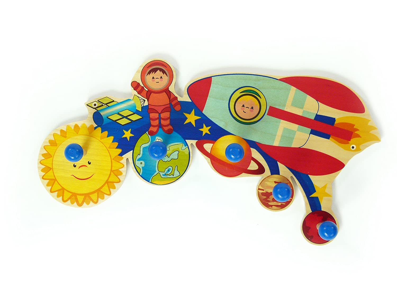 Hess Holzspielzeug Messlatte Weltall