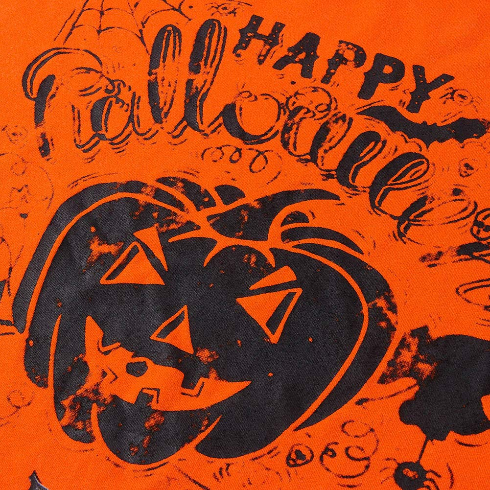 Loveternal Women Halloween Tops Casual dalla Spalla Scoperte Long Sleeve Dress Felice Stampato Maniche Lunghe T-Shirt Arancione XL