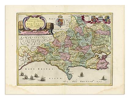 Poole England Map.Amazon Com The Blaeu Prints Dorset England Historical Map
