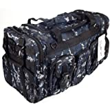 "NPUSA Mens Large 22"" Duffel Duffle Military Molle Tactical Gear Shoulder Strap Travel Bag"