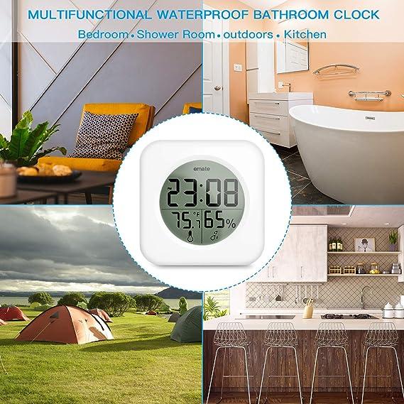 Resistente al agua ducha Reloj pantalla LCD, Digital de Baño de K š ¹ Chen de pared de ventosa Reloj, Big Desktop de mesa Reloj: Amazon.es: Hogar