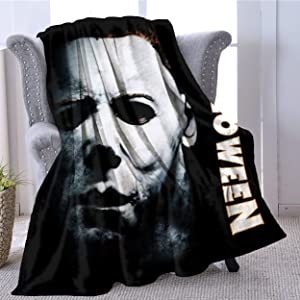 Halloween-Michael Myers Slay All Day Lightweight Soft Plush Blanket for Adult - Super Fuzzy Thermal Fleece Blanket Home Decor for Couch Sofa Large (60x80in, Gift for Mom Dad)