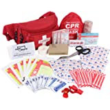 Ever Ready First Aid Fanny Pack/Hip Pack, Fully Stocked First Aid Kit with Adult & Infant CPR Combo Masks