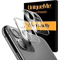 [ 2 Pack] UniqueMe Camera Lens Protector for Apple iPhone 11 Pro/Apple iPhone 11 Pro Max Tempered Glass, Easy Install 9H Hardness HD Clear