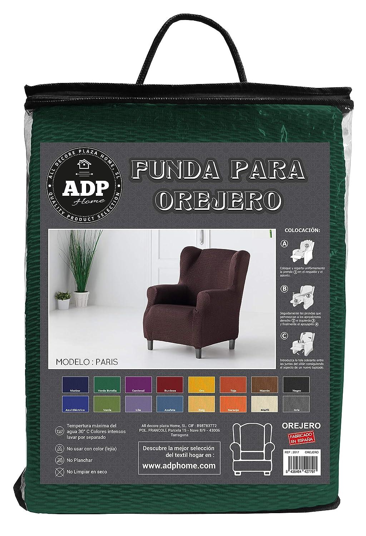 ADP Home - Funda/Protector de Sillón Orejero de Alta Elasticidad, Protector de 1 Plaza (70 a 110 cm), Verde Botella