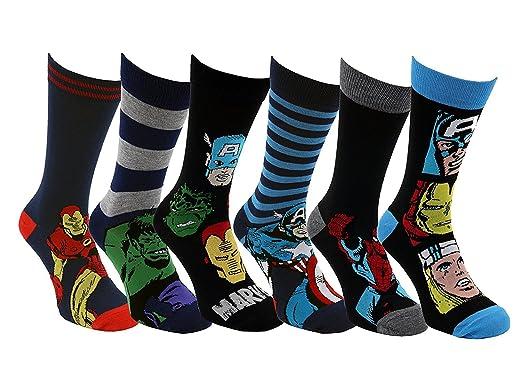 Juego de 6 pares de calcetines Sofias Closet, de Marvel: X-Men, Hulk, Iron Man, Los Vengadores 6 Pack Talla única: Amazon.es: Ropa y accesorios