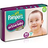 Pampers Active Baby Diapers, Medium (62 Count)