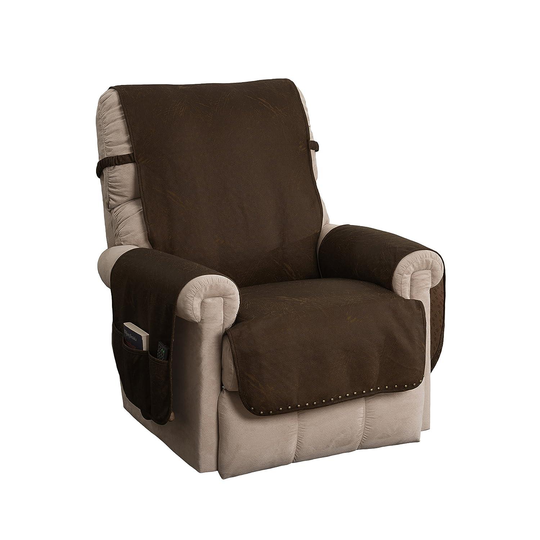 Amazon.com: Sillón reclinable de piel sintética: Home & Kitchen