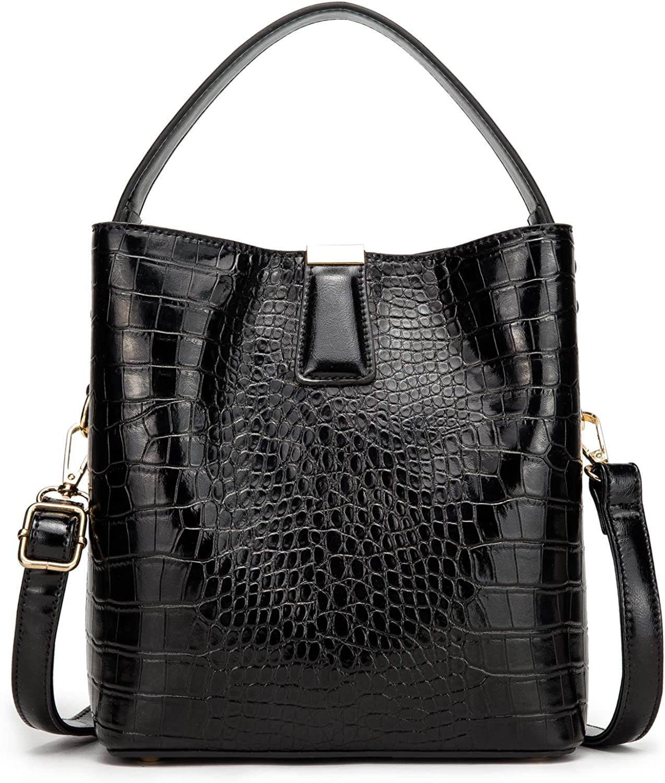 Women Convertible Bucket Shoulder Bag, Designer Casual Cross Body Hobo Bag Purse