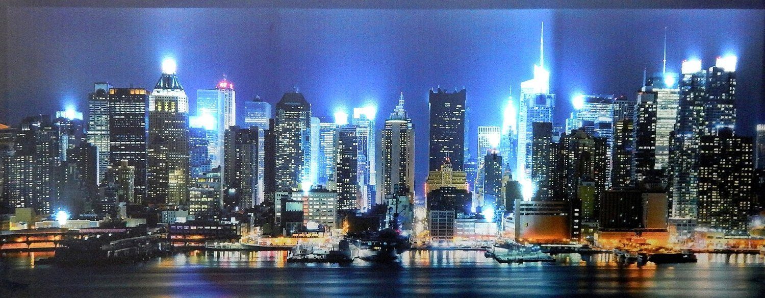 poster lumineux tableau lumineux de new york apres cot gauche with poster lumineux awesome. Black Bedroom Furniture Sets. Home Design Ideas
