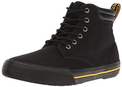 Dr.Martens Mens 6-Eyelet Eason Canvas Canvas Shoes, Black, 41 EU