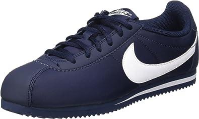 Gigante ayudar Diez años  Nike Cortez Nylon (GS) - Zapatillas de running para niños, Azul/Blanco  (Obsidian/White), talla 35.5: Amazon.es: Zapatos y complementos
