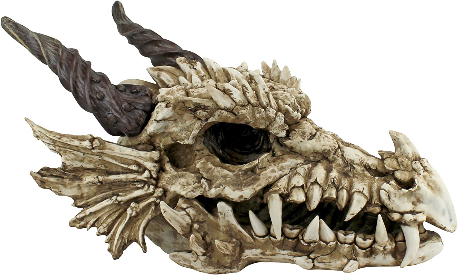 Amazon Com Design Toscano Stoker S Moors Dragon Skull Gothic Garden Statue Large 26 Inch Polyresin Full Color Outdoor Statues Garden Outdoor #sculpture #ceramics #dragon #dragon skull #bone time #she lived a good life #yes i gave her a full i've done a pearlcatcher and ridgeback skull so far so there's just snapper and spiral left before. design toscano stoker s moors dragon skull gothic garden statue large 26 inch polyresin full color