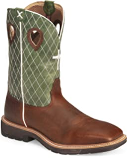25c1de2026d Amazon.com: Twisted X Men's Denim Blue Cowboy Pull-On Work Boot Soft ...