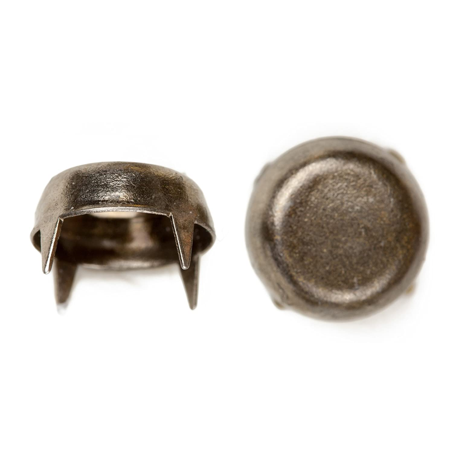 C C Metal Products 1240 Cut Off Cone Nailhead Size 40 Solid Brass Colonial Nickel Finish 200 Pack