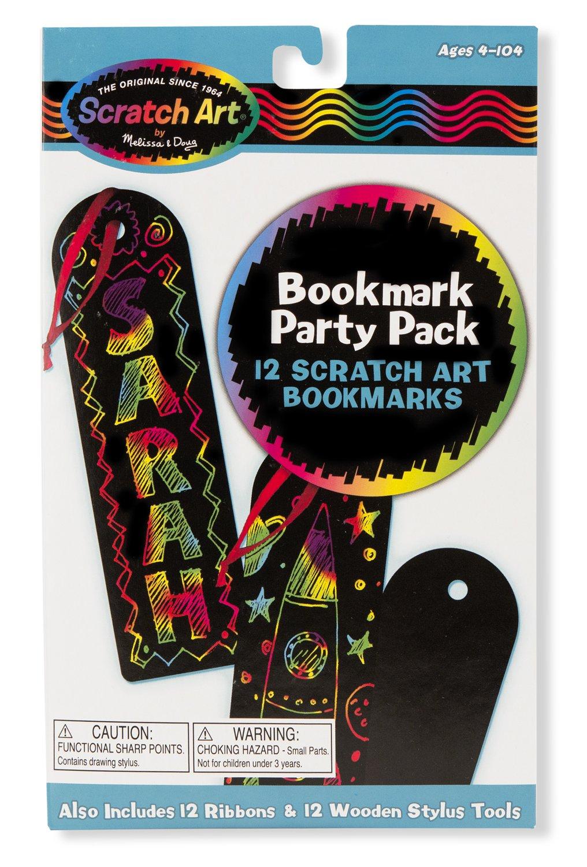 Melissa & Doug Scratch Art Bookmark Party Pack Activity Kit - 12 Bookmarks 5906