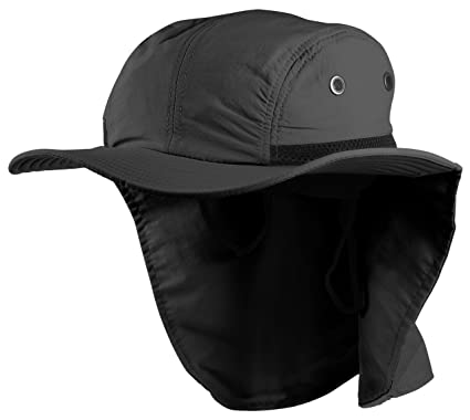 087ce0ff Enimay Sun Hat Headware Extreme Outdoor Condition Ear Neck Flap Protection  Black Adjustable