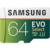 Samsung MB-ME64GA/AM 64GB 100MB/s (U3) MicroSD EVO Select Memory Card with Adapter