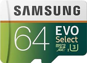 Samsung MB-ME64GA/AM 64GB 100MB/s (U3) MicroSD EVO Select Memory Card with Adapter