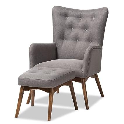 Excellent Amazon Com Baxton Studio Waldmann Mid Century Modern Grey Machost Co Dining Chair Design Ideas Machostcouk