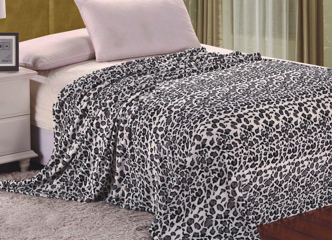 King Super Soft Polyester Microplush African Safari Animal Skin Print Blanket