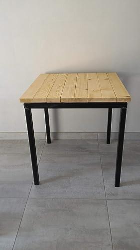 Mesa 120x80 en hierro/madera de abeto.: Amazon.es: Handmade
