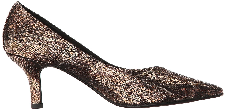 Easy Street Women's Chiffon B01N47LMTY 7 W US|Black/Metallic Snake