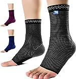 Medical Grade 20-30 mmHg Compression Ankle Brace Sleeves for Men &