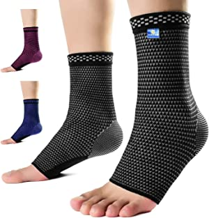 Medical Grade 20-30 mmHg Compression Ankle Brace Sleeves for Men & Women Treat Achilles Tendonitis,Joint Pain.Best Plantar Fasciitis Pain Relief Socks with Arch Support for Daily Use