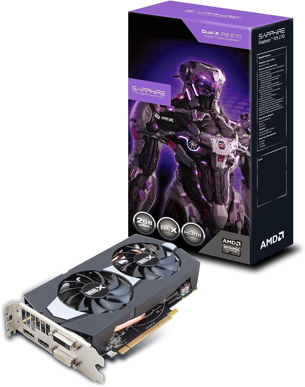 Amazon Com Sapphire Radeon R9 270 2gb Gddr5 Dvi I Dvi D Hdmi Dp Dual X With Boost And Oc Version Pci Express Graphics Cards 11220 00 20g Computers Accessories