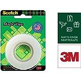 Scotch Magic Tape - The Original Matte-Finish Invisible Tape by 3M (1 Roll, Width 1.9cm Length 32.9m)