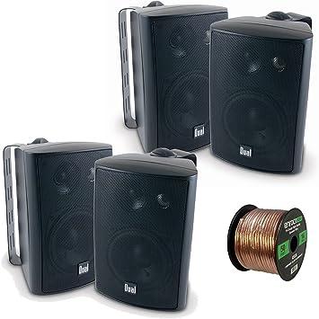 3 Way High Performance Indoor Outdoor /& Bookshelf Studio Monitor Speaker 4 in