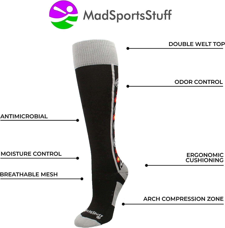 MadSportsStuff Bomber Soccer Socks Over The Calf Length (Multiple Colors) : Clothing