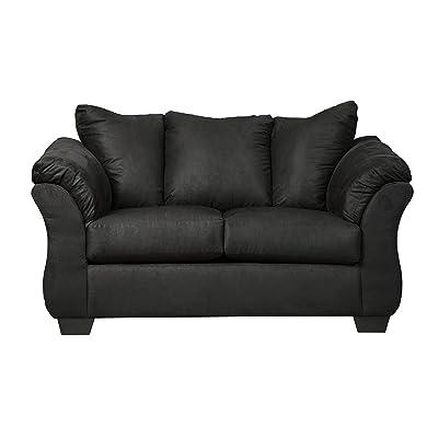 Genial Flash Furniture Signature Design By Ashley Darcy Loveseat In Black  Microfiber
