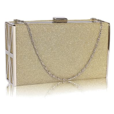 Gorgeous Gold Glitter Clutch Bag  a3605ef17206