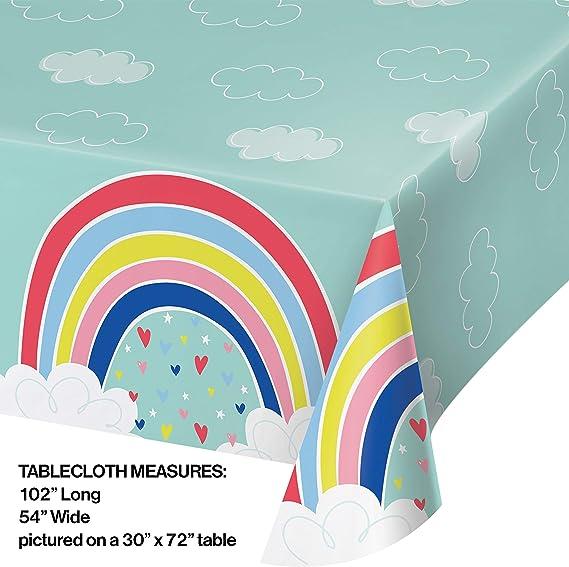 Confetti Balloons Plastic Tablecloth 72 x 52
