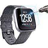 KIMILAR [3-Pack] Screen Protector Compatible with Fitbit Versa/Versa Lite Smart watch, Waterproof Tempered Glass Screen…