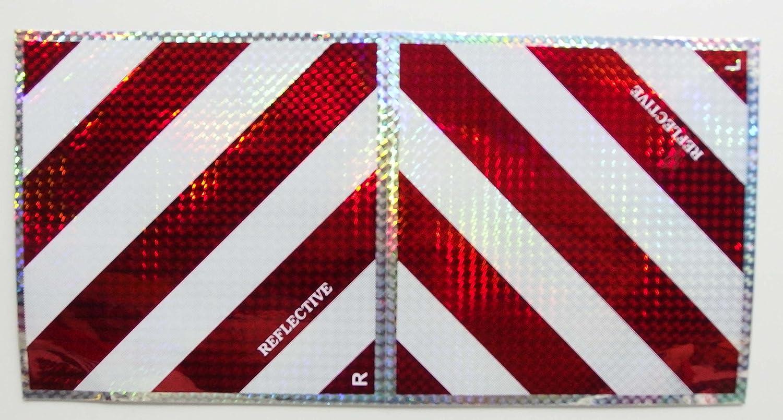 WARNATFEL WARNFOLIE Reflektor 20 x 20 cm links rechts reflektierend