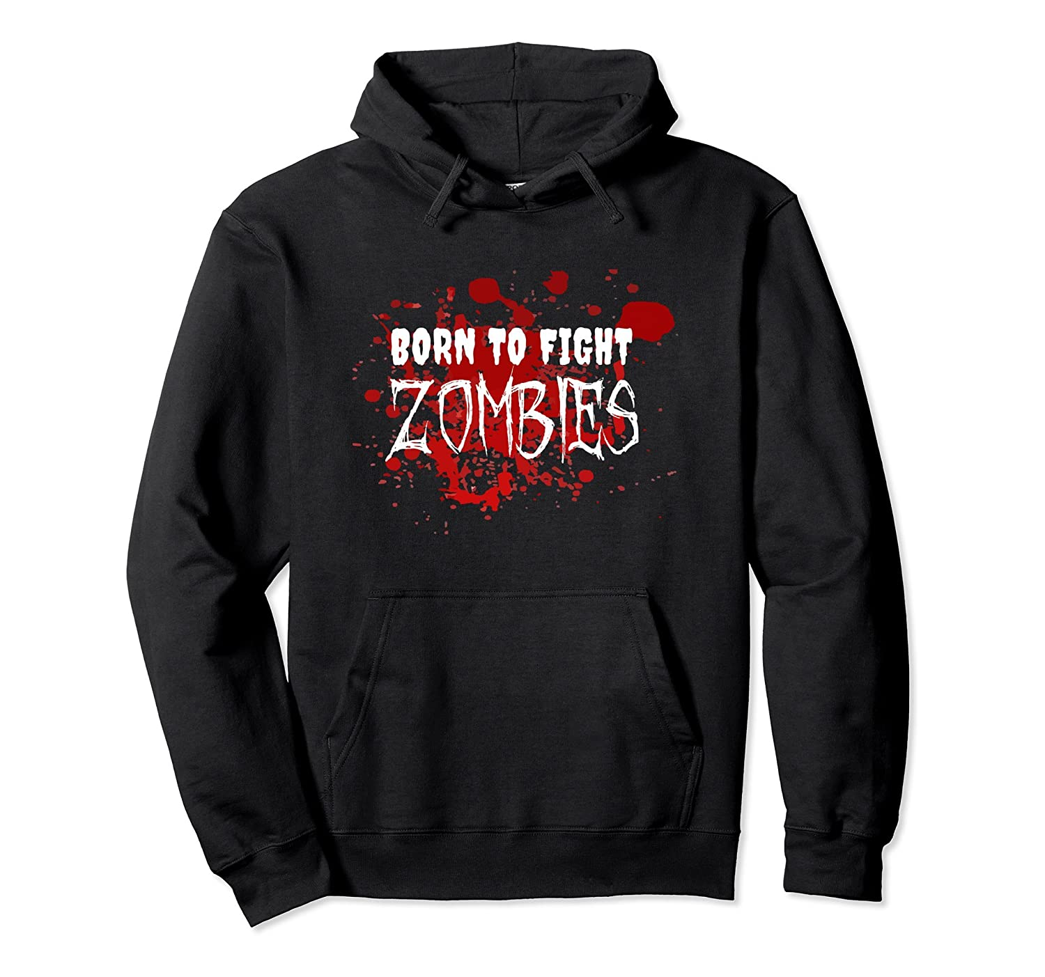 Born To Fight Zombies Hoodie-mt